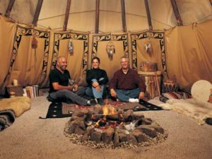 The Traditional Tipi Fire Pit